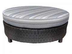 """Flight Curved Sectional 48"""" Round Ottoman"""